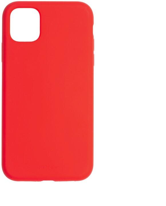 FIXED silikonový kryt Flow pro Apple iPhone 11, červená