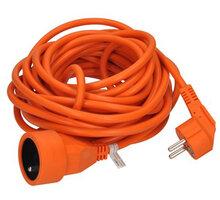 Solight prodlužovací kabel - spojka, 1 zásuvka, 10m, oranžová - PS16O