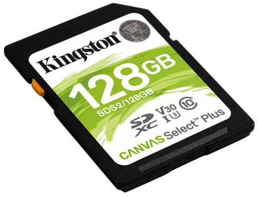 Kingston SDXC Canvas Select Plus 128GB 100MB/s UHS-I