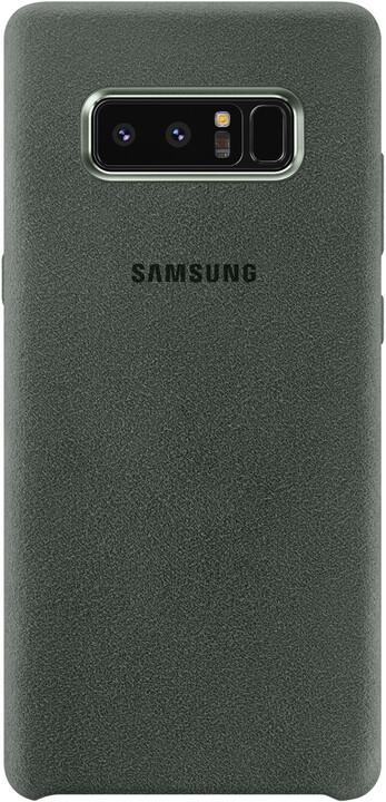 Samsung ochranný kryt z kůže Alcantara pro Note 8, khaki