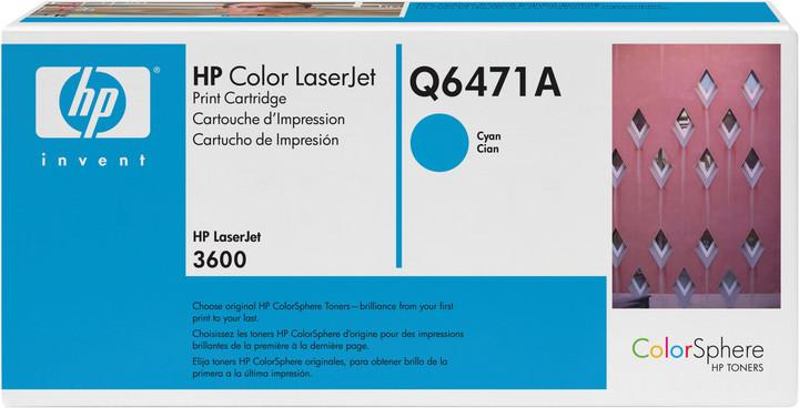 HP Q6471A, azurový