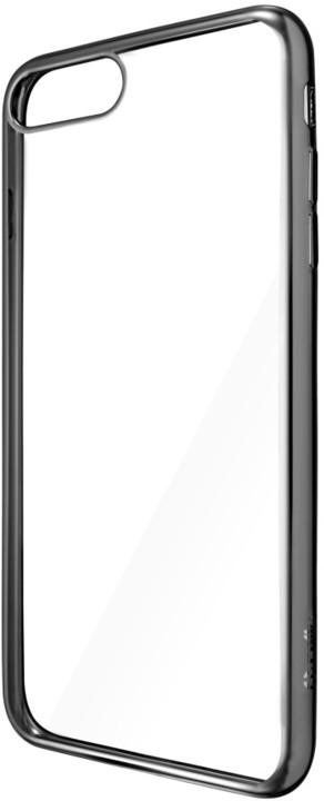 CELLY Laser - pouzdro lemování s kovovým efektem pro iPhone 7 Plus, černé