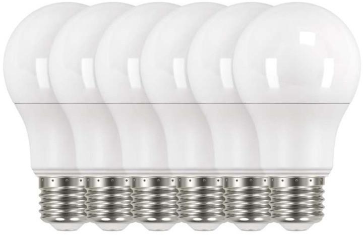Emos LED žárovka Classic A60 9W E27, neutrální bílá - 6 ks