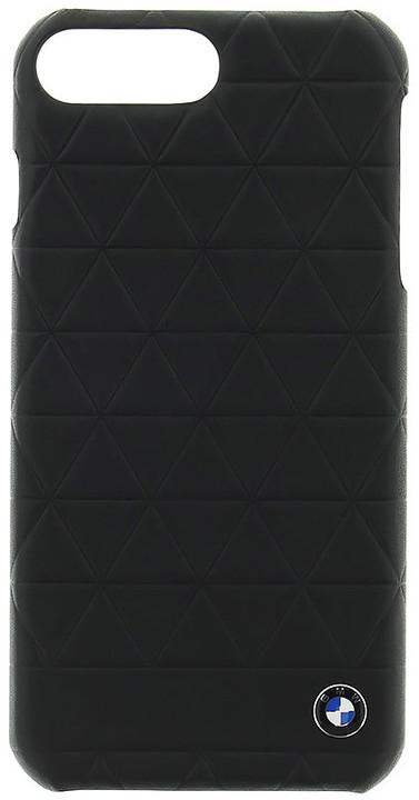BMW Hexagon kožený zadní kryt pro iPhone 7/8 Plus, černý