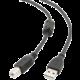 Gembird CABLEXPERT kabel USB A-B 3m 2.0 HQ s ferritovým jádrem