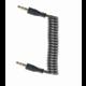 Gembird kabel CABLEXPERT přípojný jack 3,5mm, M/M, kroucený, 1.8m, černá