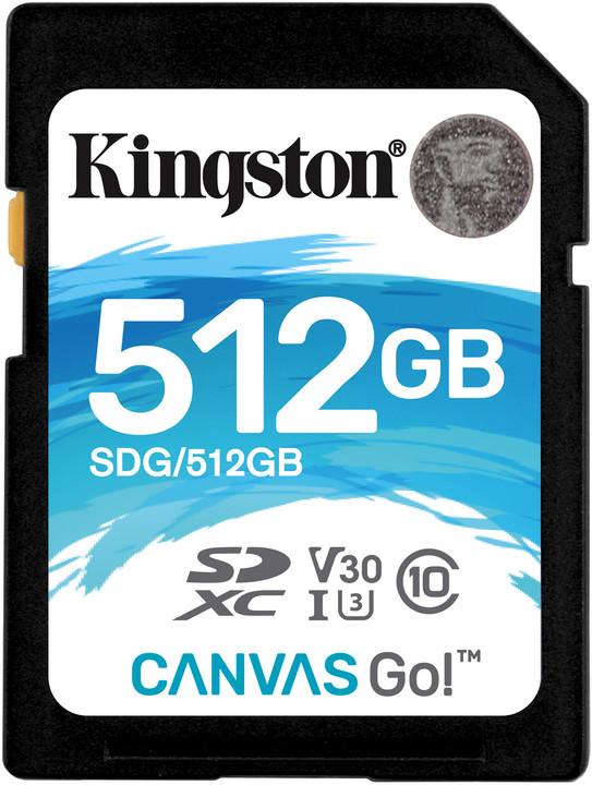Kingston SDXC Canvas Go! 512GB, UHS-I U3