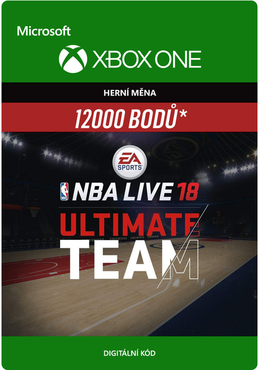 NBA Live 18 - 12000 NBA Points (Xbox ONE) - elektronicky