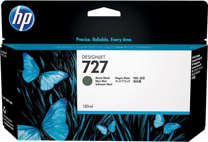 HP B3P22A náplň č.727, černá matná