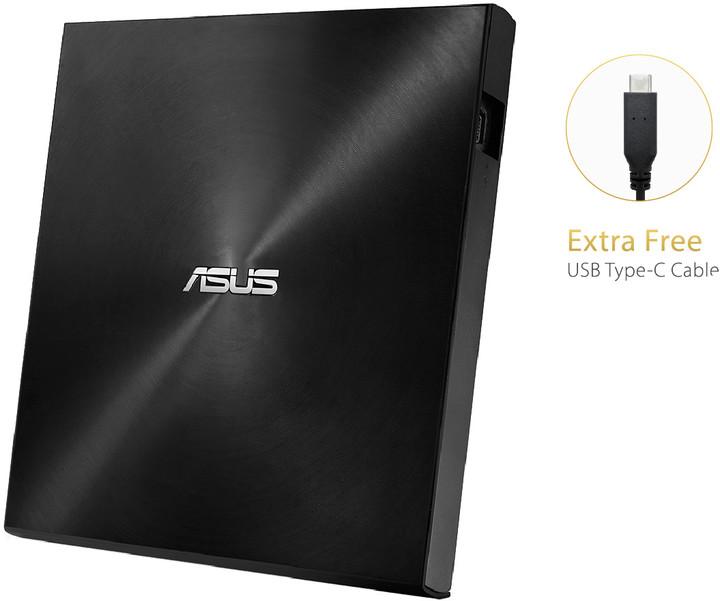 ASUS SDRW-08U9M-U (USB Type-C/A), černá