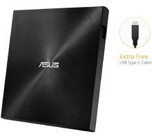 ASUS SDRW-08U9M-U (USB Type-C/A), černá  + Podložka pod myš Asus Cerberus Mat Mini v hodnotě 249 Kč