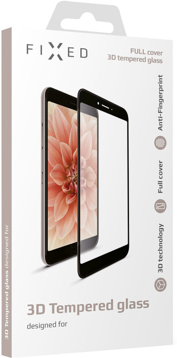 FIXED Ochranné tvrzené sklo 3D Full-Cover pro Huawei Y7 Prime (2018), černé