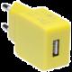 CONNECT IT nabíjecí adaptér 1xUSB port 1 A, žlutá