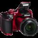 Nikon Coolpix B500, červená  + Batoh Alpine Pro ADJOA, tyrkysová v ceně 999 Kč