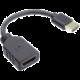 PremiumCord Flexi Adaptér HDMI pro ohebné zapojení kabelu do TV, 13cm