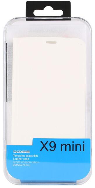 DooGee X9 MINI Flip Case + Screen Protector Glass, bílá