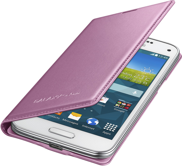 Samsung flipové pouzdro EF-FG800B pro Galaxy S5 mini, růžová