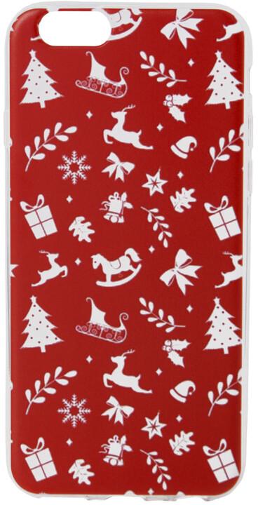 EPICO pružný plastový kryt pro iPhone 6/6S RED XMAS