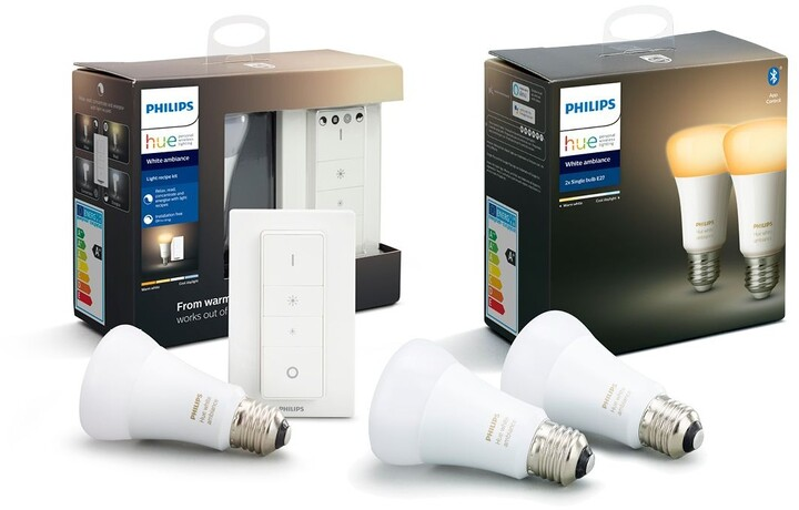 Philips Hue White Ambiance set 3x E27 + Dimmer Switch