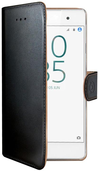 CELLY Wally pouzdro typu kniha pro Sony Xperia E5, PU kůže, černé