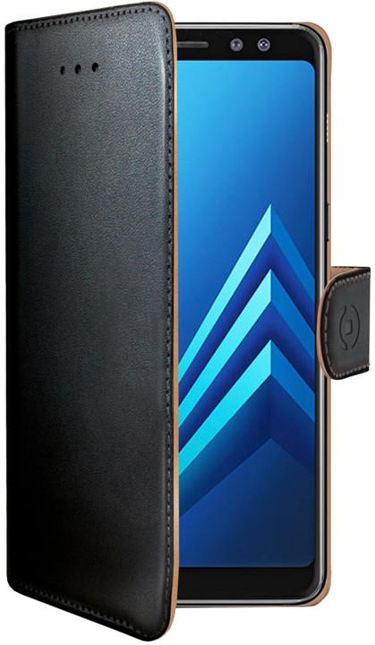 CELLY Wally pouzdro typu kniha pro Samsung Galaxy A8 Plus (2018), PU kůže, černé