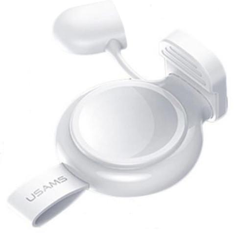 USAMS CC061 bezdrátová nabíječka pro Apple Watch, bílá