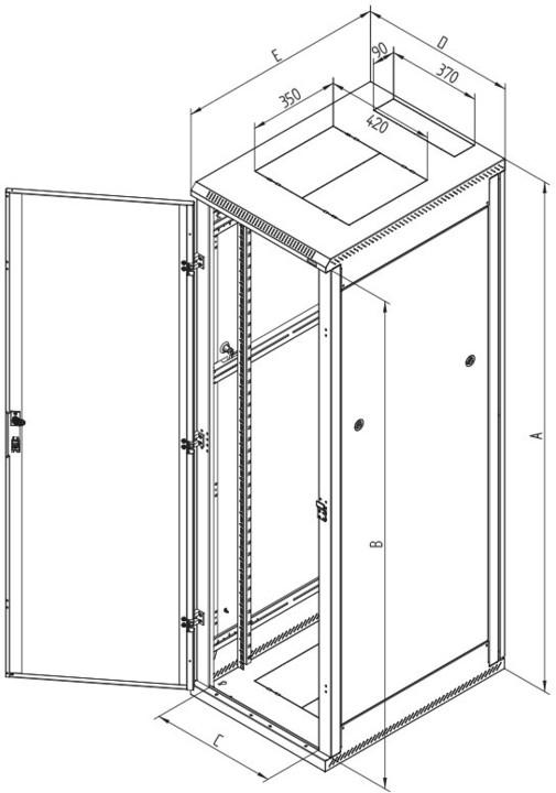 Triton RMA-42-L61-CAX-A1, 42U, 600x1000