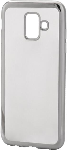 EPICO pružný plastový kryt pro Samsung Galaxy A6 (2018) BRIGHT, stříbrný