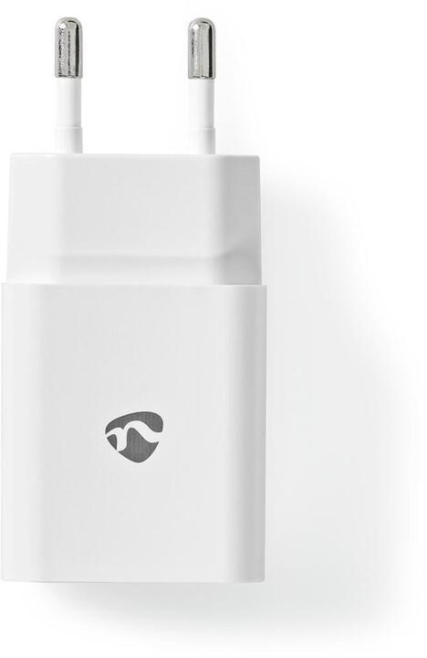 Nedis síťová nabíječka, USB-A, 12W, bílá
