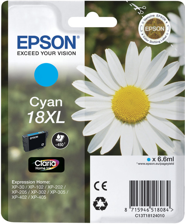 Epson C13T18124010, cyan