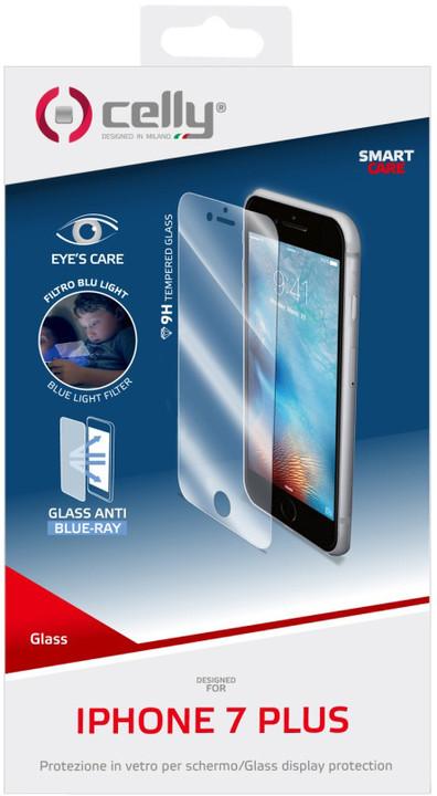 CELLY Glass antiblueray ochranné tvrzené sklo pro Apple iPhone 7 Plus