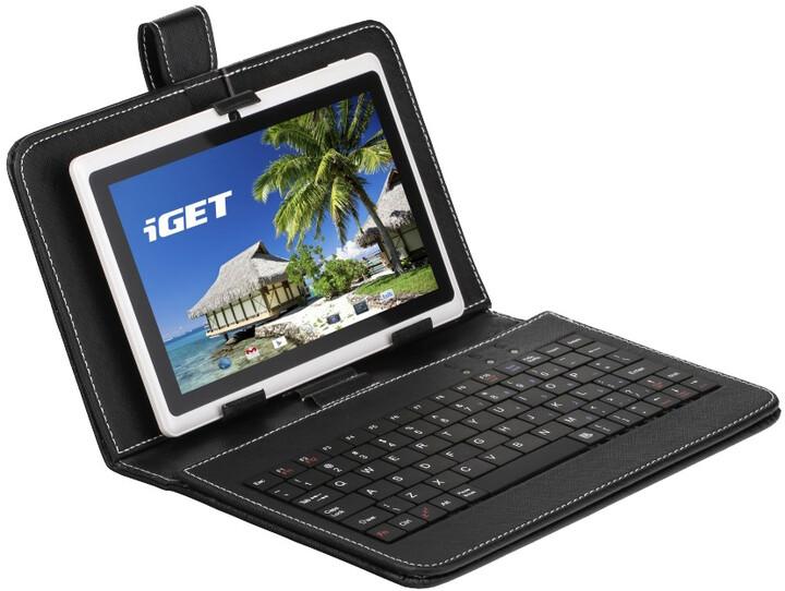 iGET 7'' pouzdro s klávesnicí - černá F7B