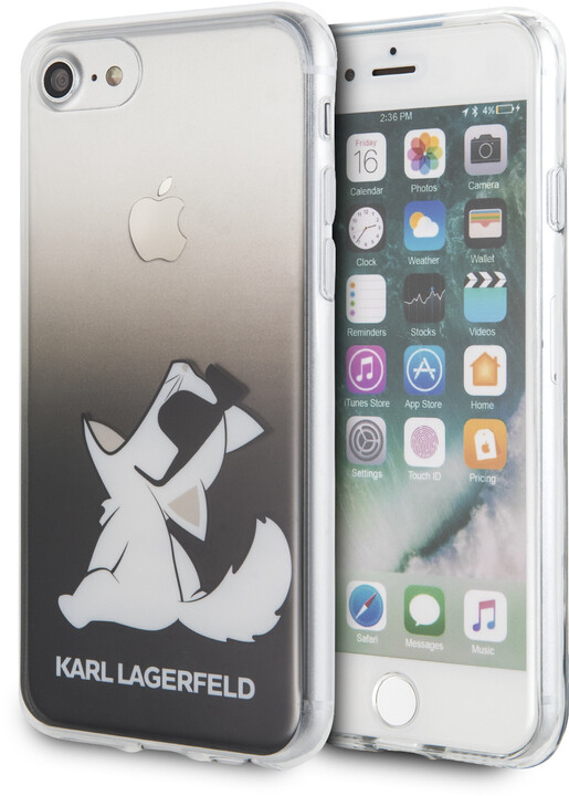 Karl Lagerfeld ochranný kryt Fun Sunglasses pro iPhone 8/SE2, černá