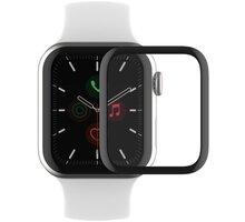 Belkin ochranné sklo pro Apple Watch Series 4/5/6/SE, zahnuté, voděodolné, (44mm) - OVG002zzBLK