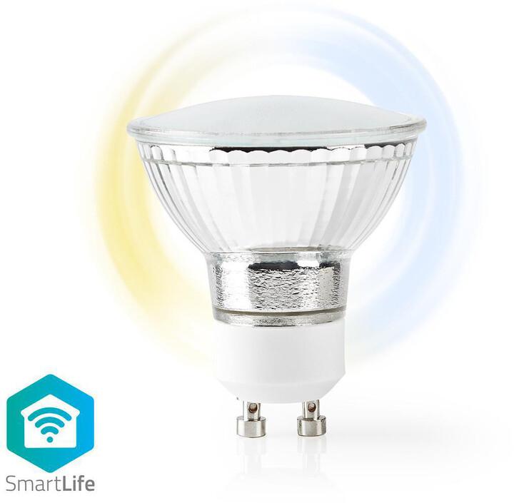 Nedis Wi-Fi chytrá LED žárovka, teplá až studená bílá, GU10