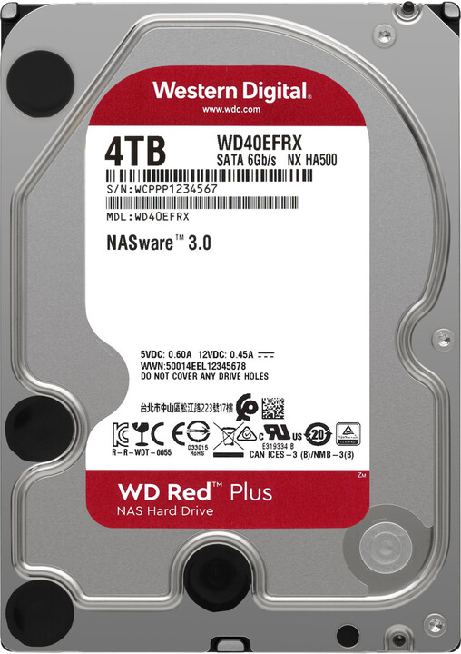 "WD Red Plus (EFRX), 3,5"" - 4TB"