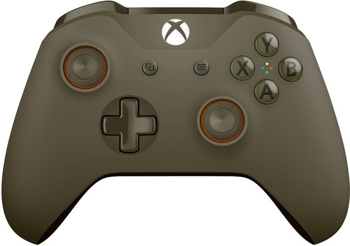 Xbox ONE S Bezdrátový ovladač, vojenská zelená/oranžová (PC, Xbox ONE)