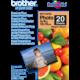Brother Foto papír BP71GP20, 10x15 cm, 20 listů, 260g/m2, lesklý