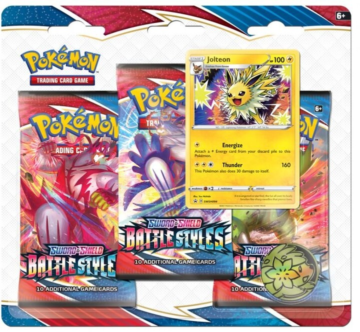 Karetní hra Pokémon TCG: Sword and Shield Battle Styles - 3 Booster Pack Jolteon