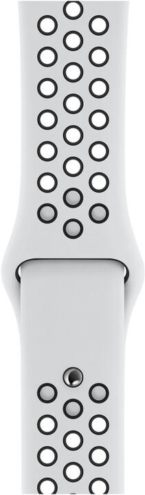 Apple řemínek pro Watch Series 5, 40mm sportovní Nike - S/M a M/L, platinová/černá