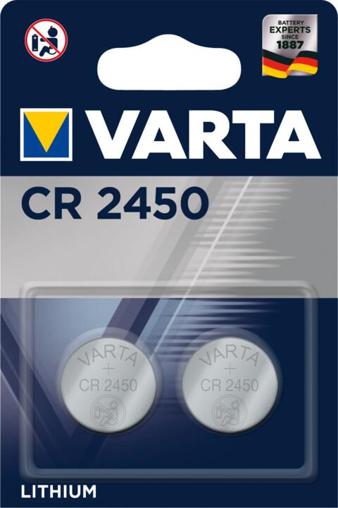 VARTA lithiová baterie CR2450, 2ks