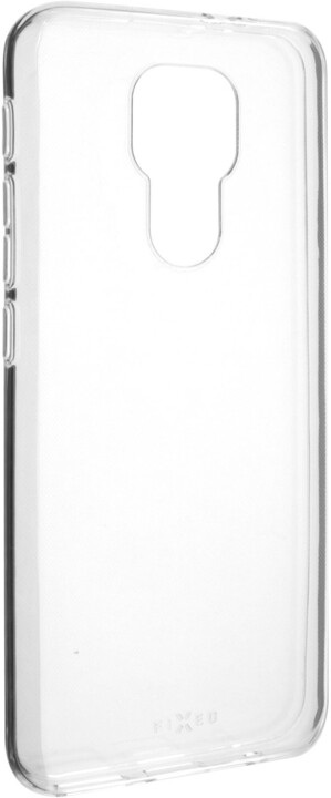 FIXED ultratenké TPU gelové pouzdro Skin pro Motorola Moto E7 Plus, 0.6 mm, transparentní