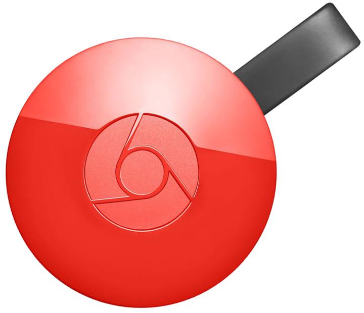 Google Chromecast 2, červená