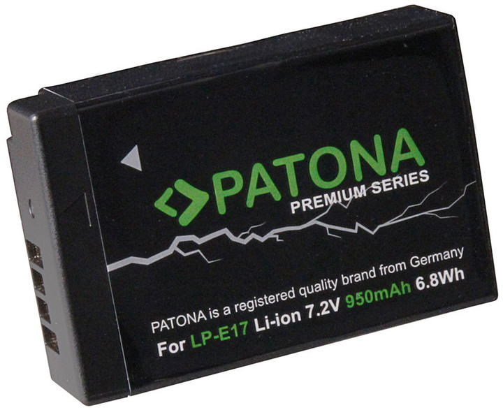 Patona baterie pro foto Canon LP-E17 950mAh Li-Ion Premium