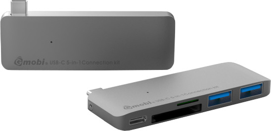 Gmobi Multi-port USB-C Hub, šedá