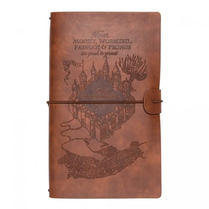 Zápisník Harry Potter - The Marauders Map, pevná vazba, koženkový obal, A5