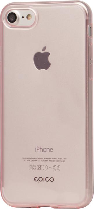 EPICO ultratenký plastový kryt pro iPhone 7 TWIGGY GLOSS, 0.4mm, růžová