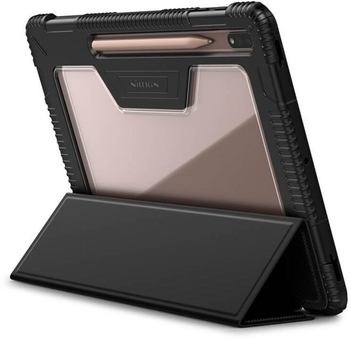 Nillkin flipové pouzdro Bumper Protective Stand pro Samsung Galaxy Tab S7+, černá