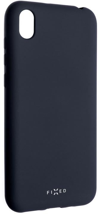 FIXED zadní pogumovaný kryt Story pro Huawei Y5 (2019), modrá