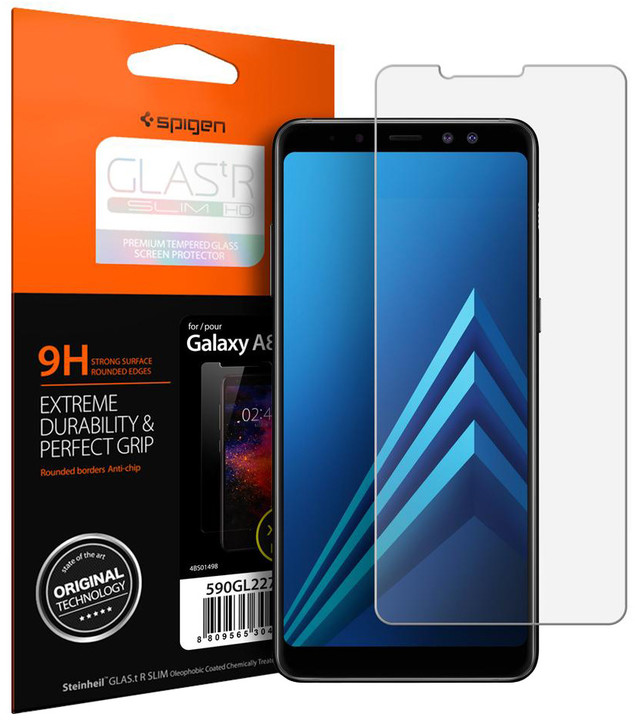 Spigen Screen protector Glas.tR SLIM HD pro Galaxy A8(2018)